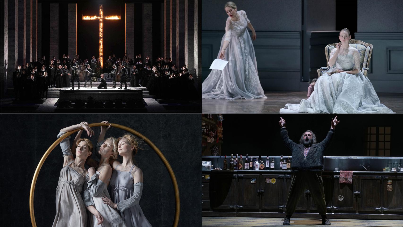 Escenas de 'Don Carlo', 'Capriccio', 'El oro del Rin' e 'Il Pirata'.