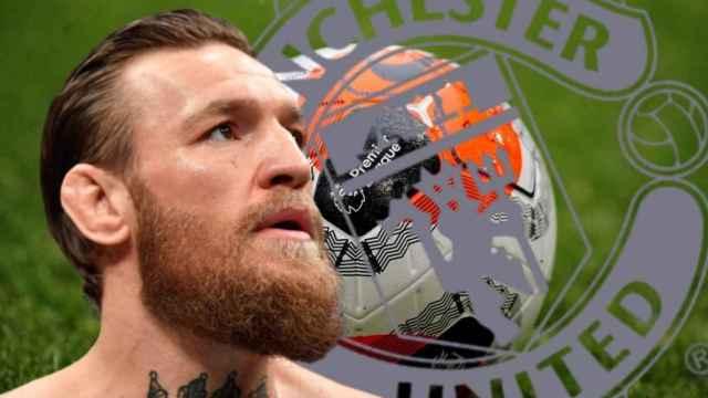 Montaje de Conor McGregor y el escudo del Manchester United