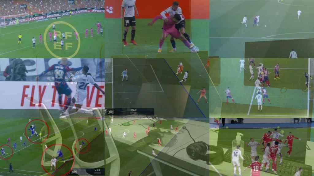 Las nueve jugadas que han perjudicado al Real Madrid en La Liga tras su revisión en el VAR