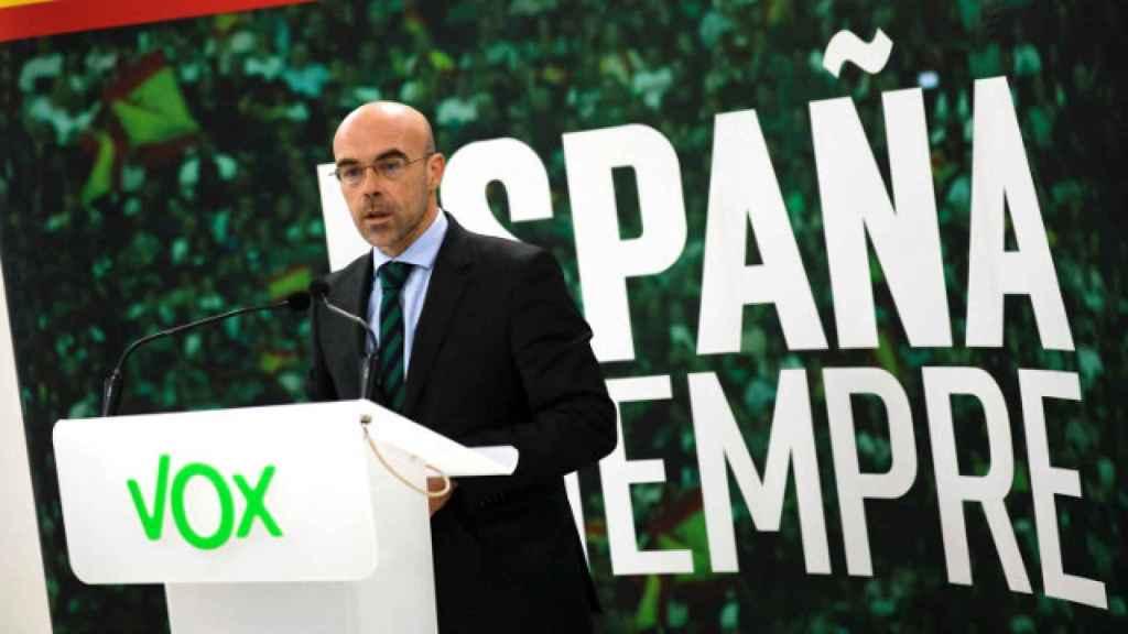 El portavoz de la dirección de Vox, el eurodiputado Jorge Buxadé, en una imagen de archivo. Efe