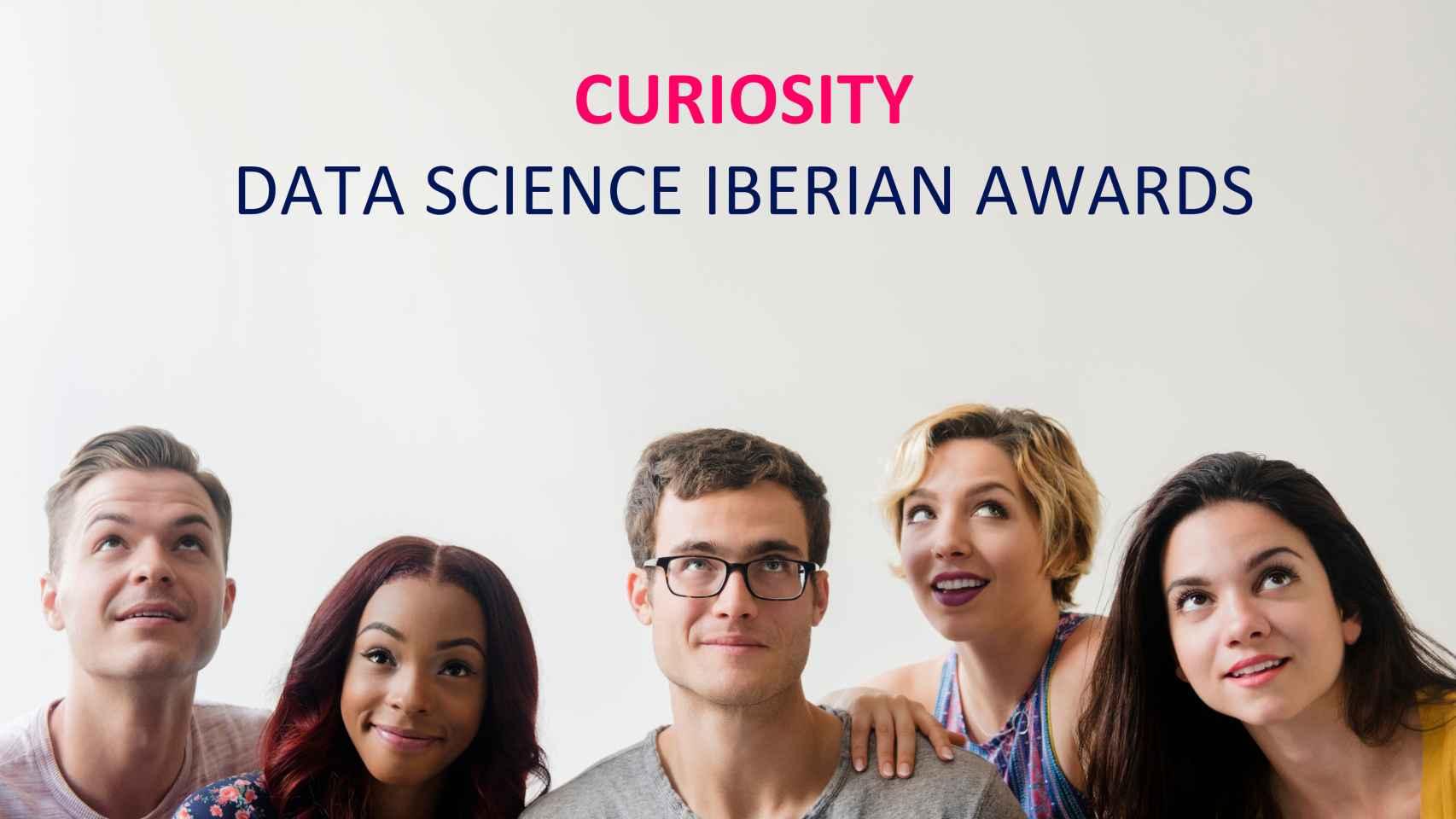 Cartel promocional de los Curiosity Data Science Awards.