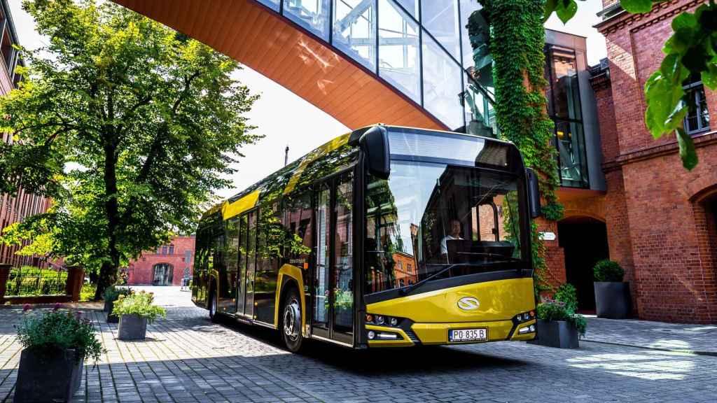 El modelo de autobús híbrido de Solaris.