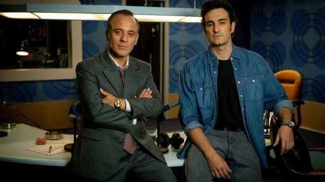 Javier Gutiérrez y Miki Esparbé en 'Reyes de la noche'.