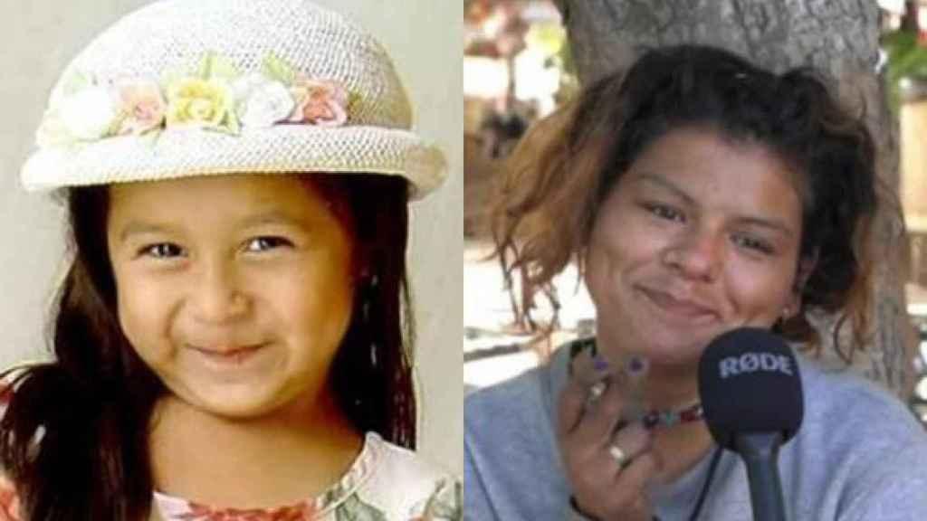 Sofía Juárez, la niña desaparecida, y la mujer que puede ser ella.