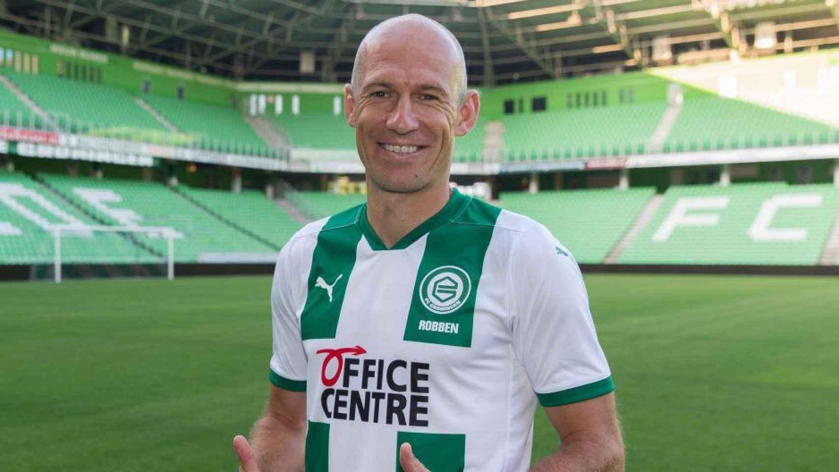 Arjen Robben, con el Groningen