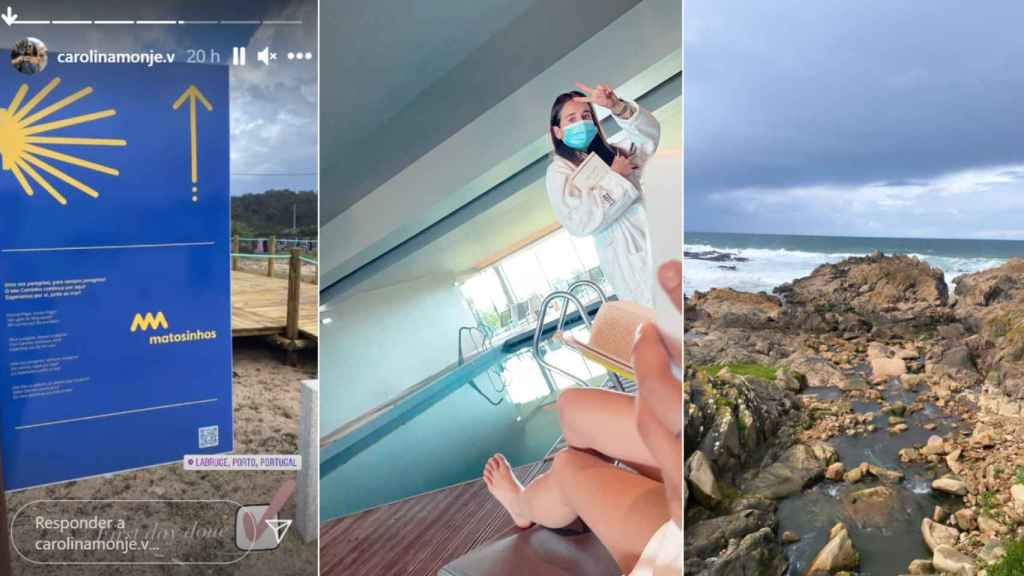 Varias imágenes de la escapada de Carolina Monje a Portugal.