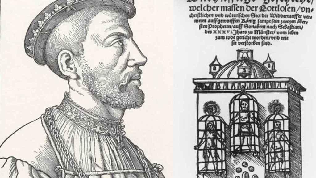 Juan de Leiden y las tres jaulas de la catedral