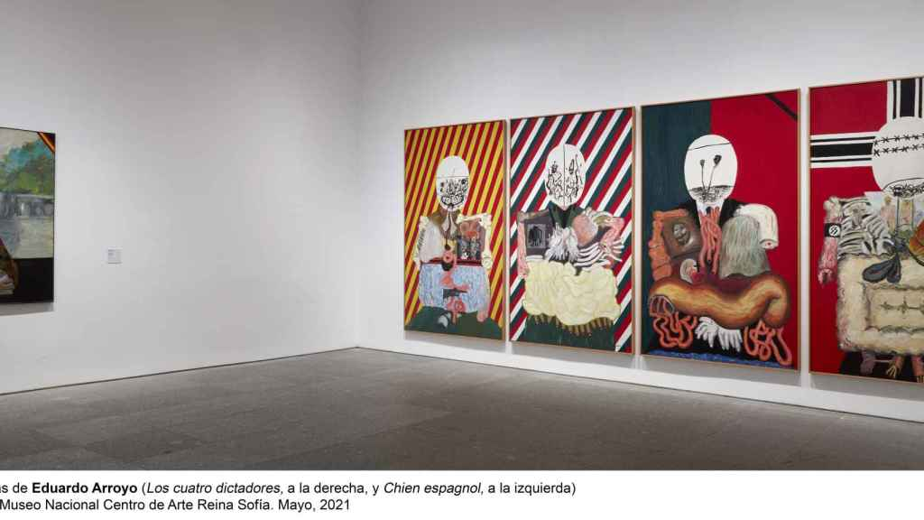 Los cuatro dictadores (1963) de  Eduardo Arroyo