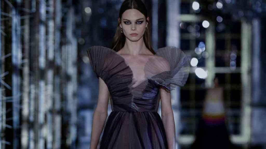 Modelo de Christian Dior en el desfile virtual del pasado mes de marzo.