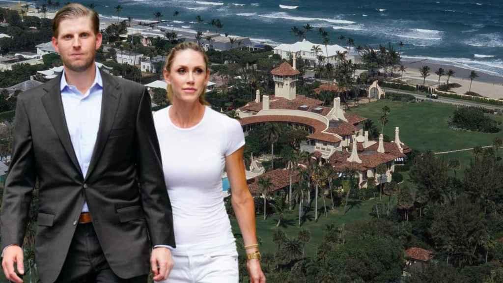 Eric y Lara Trump en una imagen de archivo.