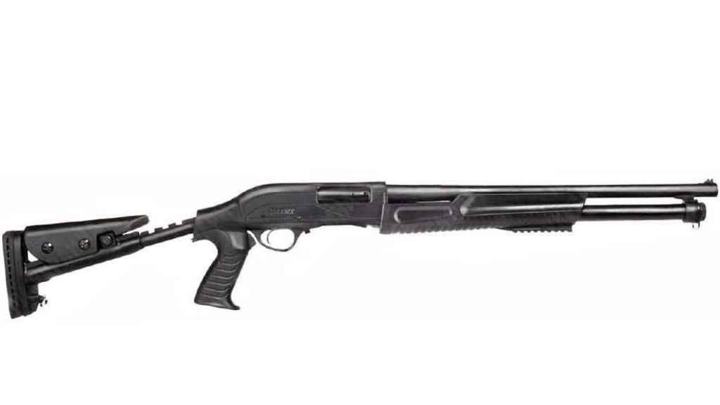 La escopeta de repetición de fabricación turca usada por Galiáyev en la matanza.