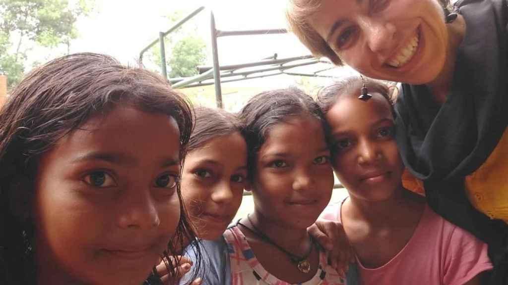 Pepa lleva cinco años en la India, donde es profesora de español y colabora con una ONG.