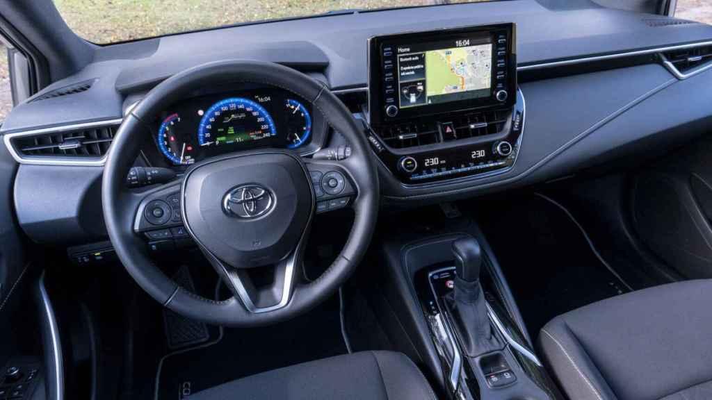 Interior del Toyota Corolla.