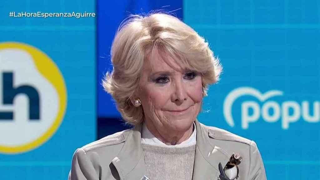 Esperanza Aguirre concursará por primera vez en un formato televisivo.