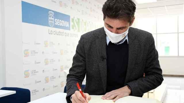 Iker Casillas, en un acto de la Fundación Real Madrid en Segovia