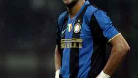 Adriano Leite, en un partido del Inter de Milán