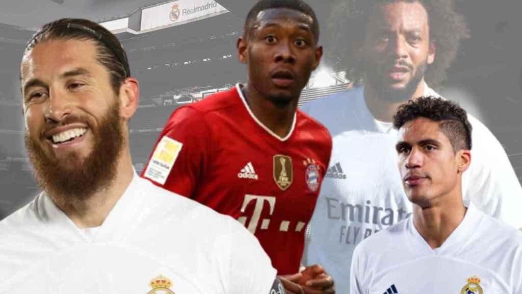 Sergio Ramos, David Alaba, Marcelo y Raphaël Varane