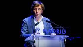 El alcalde de Madrid, José Luis Martínez-Almeida, en la presentación del programa de las fiestas de San Isidro 2021.