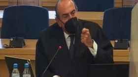 El letrado Luis Jordana de Pozas, este martes en el juicio./