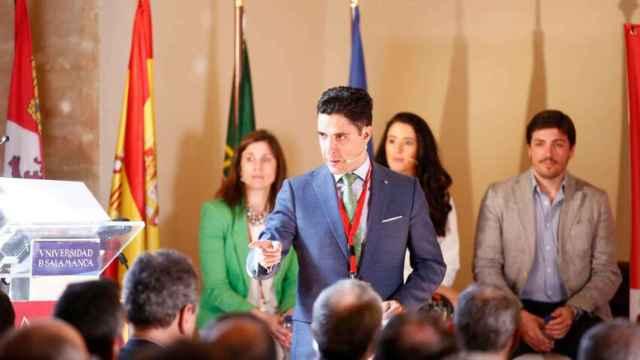 Emilio Corchado, CEO de Startup Olé, durante una de las ediciones pasadas de este evento.