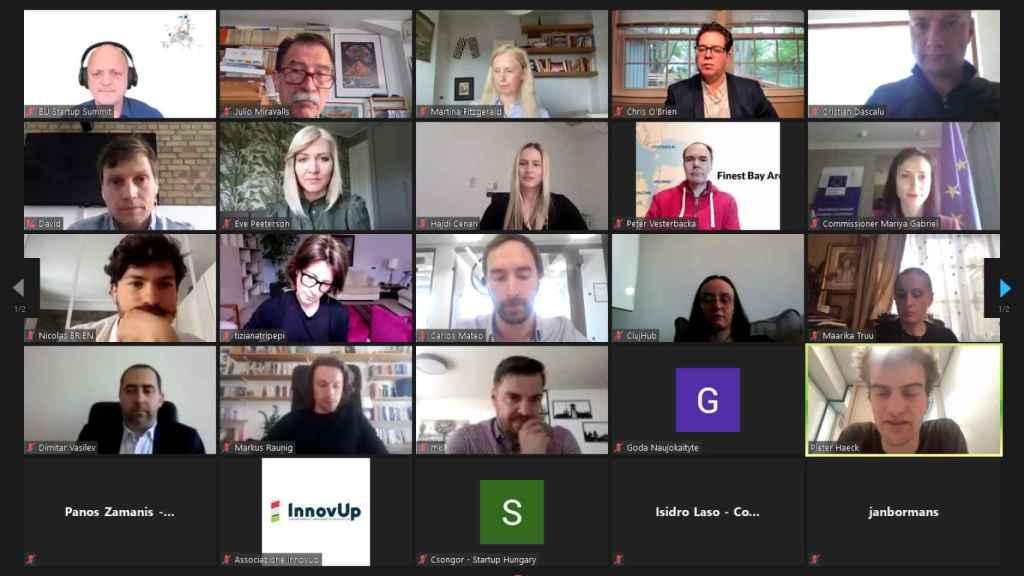Reunión del EU Startup Summit con Mariya Gabriel