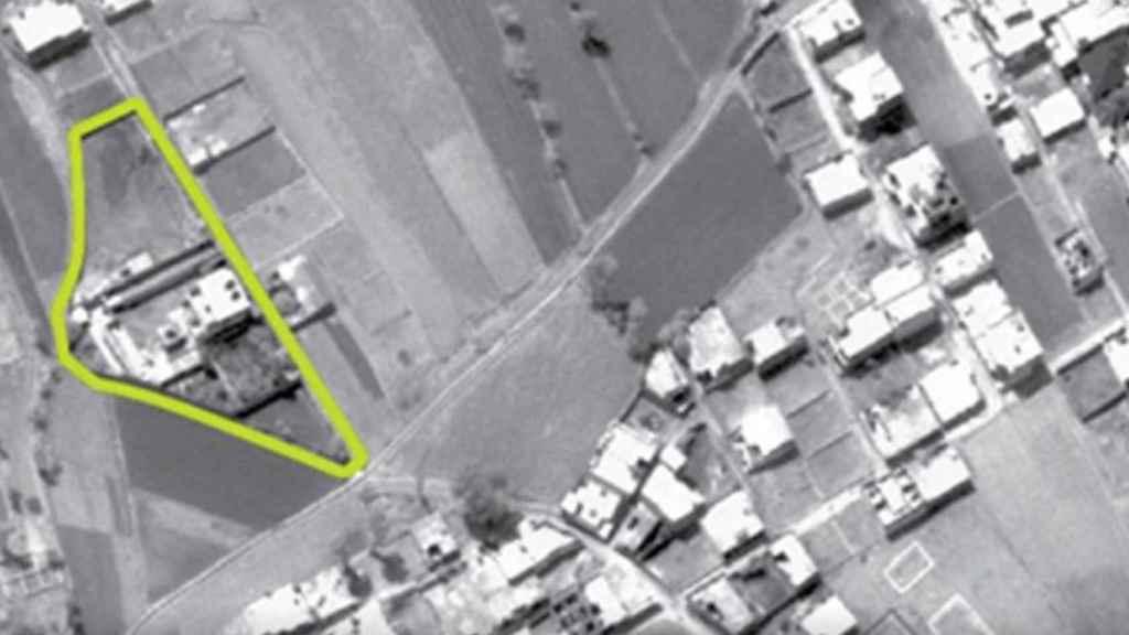 Vista aérea facilitada por la CIA de la vivienda en la que se escondía Osama Bin Laden en Abbottabad.