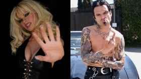 Lily James y Sebastian Stan son Pamela Anderson y Tommy Lee.