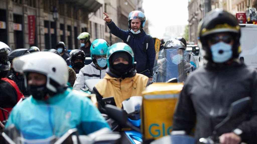 Riders en las calles de Madrid.