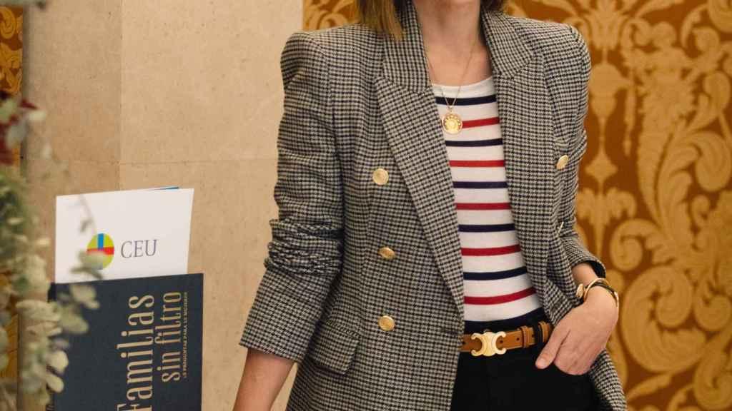 Tamara Falcó durante la presentación del libro 'Familias sin filtro: 15 preguntas para 15 mujeres'