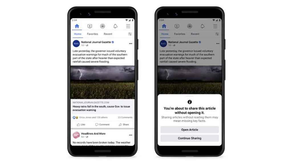 Nueva medida de Facebook