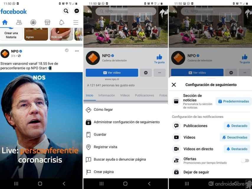 Facebook configurar notificaciones cuentas