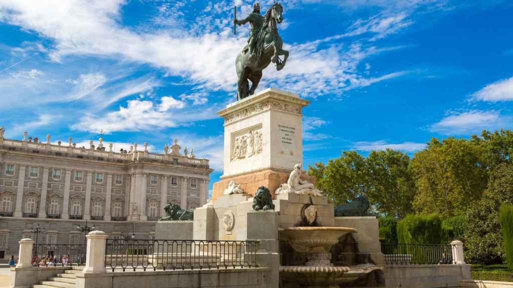 La estatua ecuestre de Felipe IV