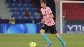 Sergi Roberto, durante un partido del FC Barcelona