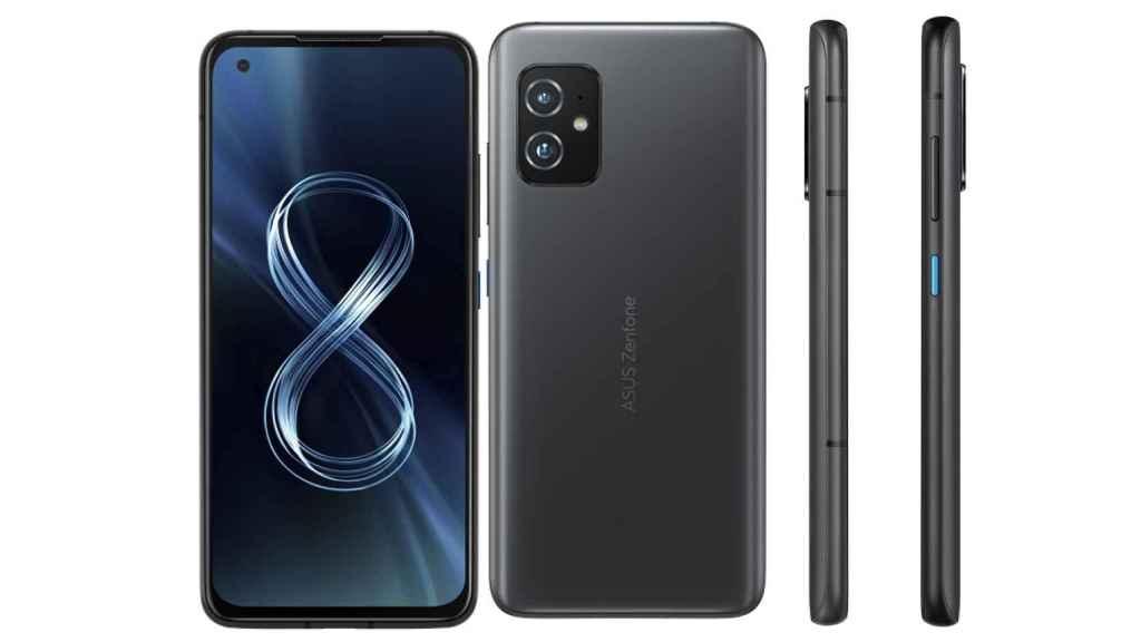 ASUS Zenfone 8 diseño color negro