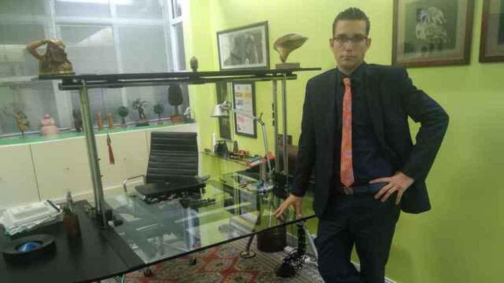 El prestigioso penalista Raúl Pardo-Geijo en su despacho en la capital de Murcia.