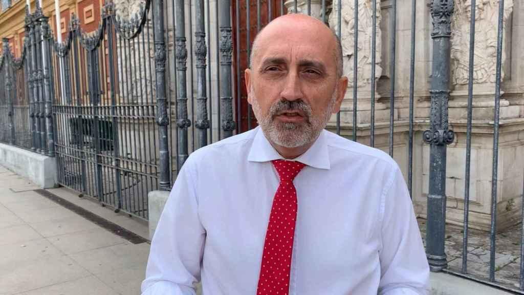 El precandidato a las primarias del PSOE andaluz Luis Ángel Hierro.