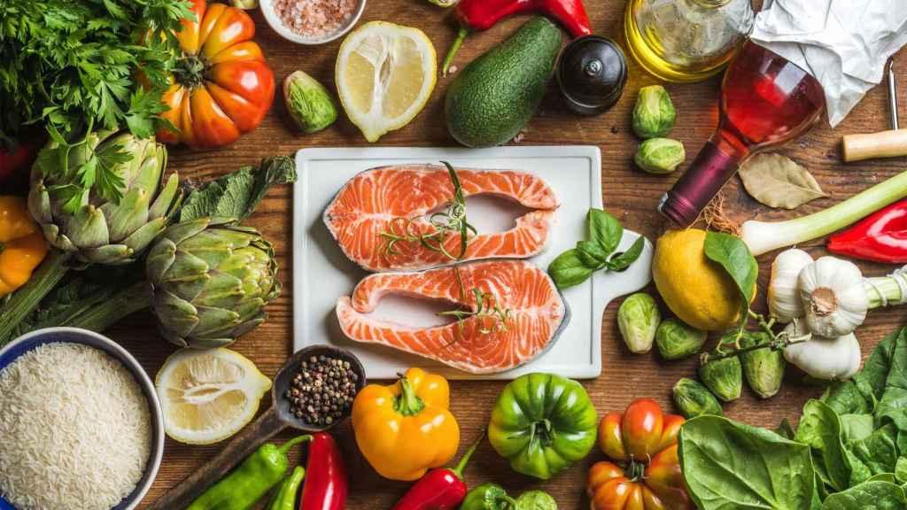 Más pescado y vegetales que carne.