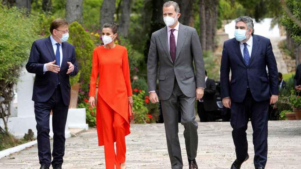 Los reyes Felipe VI y Letizia en Valencia.