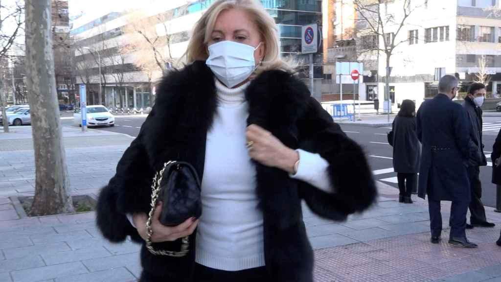 Bárbara Rey, en las calles de Madrid, el pasado mes de febrero.
