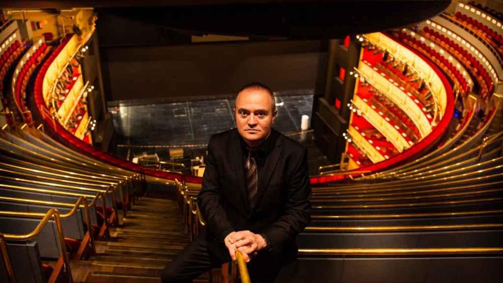 Joan Matabosch, director artístico del Teatro Real, en la zona del paraíso del coliseo.