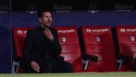 El 'Cholo' Simeone, en el banquillo del Wanda Metropolitano