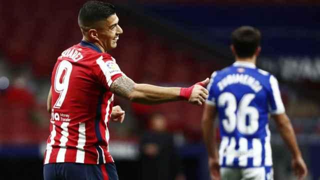 Luis Suárez, en un momento del partido