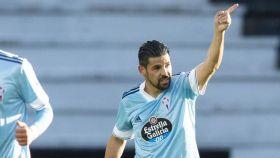 Nolito celebra su gol en el Celta - Getafe