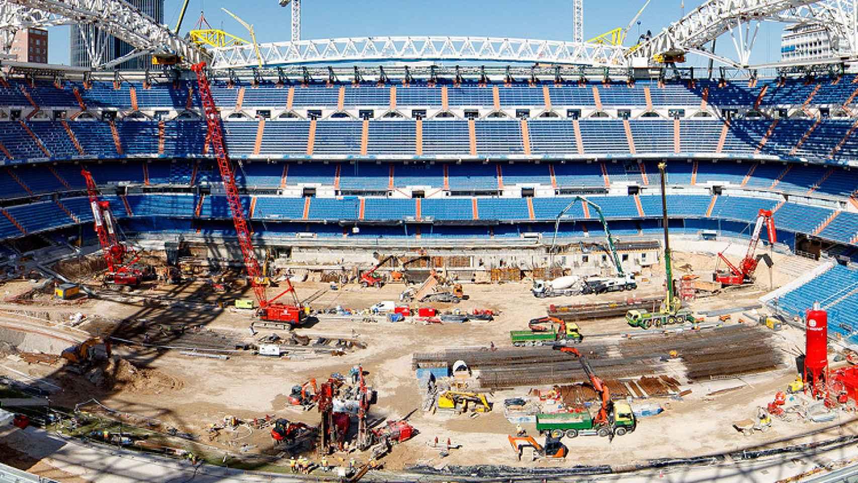 El interior del Santiago Bernabéu en el mes de mayo de 2021