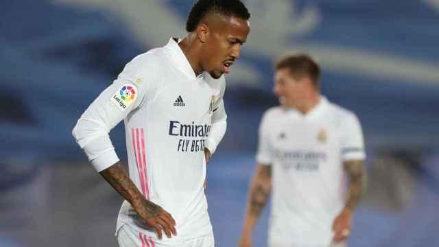 Eder Militao, en un partido del Real Madrid