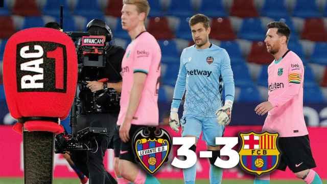 Levante 3-3 Barça: así narró RAC1 el descalabro culé que le aleja de La Liga