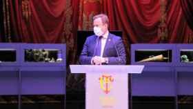 El alcalde de Albacete, Vicente Casañ, este miércoles en la presentación de la reapertura del Teatro Circo