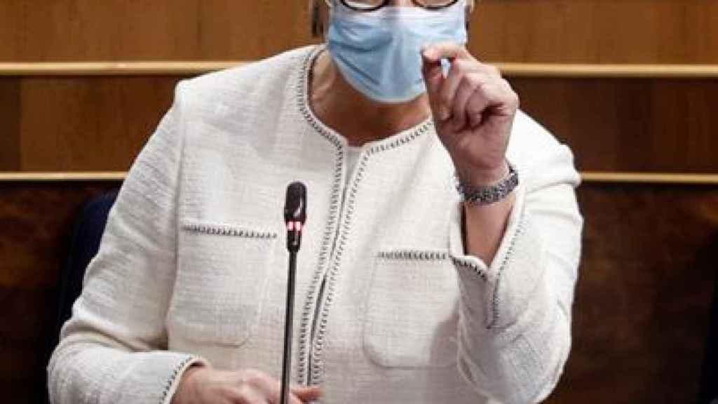 Arancha González Laya, ministra de Asuntos Exteriores, en el Congreso de los Diputados.