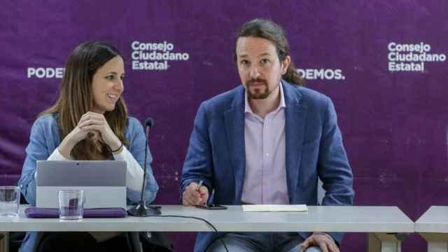 Ione Belarra junto a Pablo Iglesias.