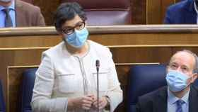 La ministra de Asuntos Exteriores, Arancha González Laya, en el Congreso, la pasada semana.